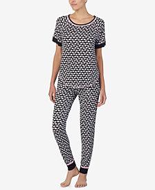 Layla Printed Contrast-Trim Pajama Set