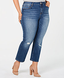 Seven7 Jeans Trendy Plus Size Cropped Flare-Leg Jeans