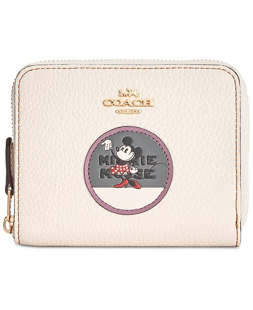 91e165e74bd7 COACH Minnie Patches Boxed Zip-Around Wallet in Pebble Leather ...