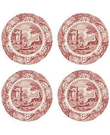 Spode Cranberry Italian Dinner Plates, Set of 4