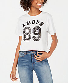 Rebellious One Juniors' Amour 89 Graphic T-Shirt
