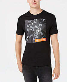A|X Armani Exchange Men's Camo Block Logo Graphic T-Shirt