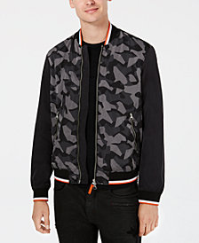 A|X Armani Exchange Men's Camo Bomber Jacket