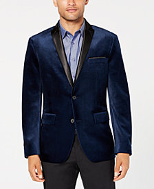 I.N.C. Men's Regular Fit Mason Velvet Blazer, Created for Macy's