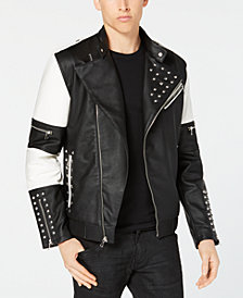 I.N.C. Men's Colorblocked Studded Bomber Jacket, Created for Macy's