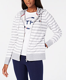 Tommy Hilfiger Sport Striped Zip-Front Hoodie, Created for Macy's