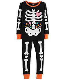 Carter's Toddler Girls Glow-in-the Dark Skeleton Cotton Pajamas
