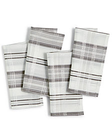 Elrene Shimmering Plaid Set of 4 Napkins