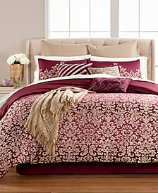 Antique Damask Reversible 220-Thread Count 14-Pc. Comforter Sets, Created for Macy's