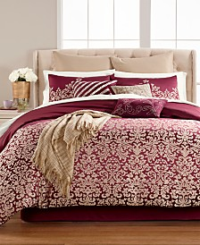 CLOSEOUT! Martha Stewart Collection Antique Damask Reversible 220-Thread Count 14-Pc. Comforter Sets, Created for Macy's