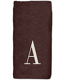 Brown Monogram Embroidered Bath Towel