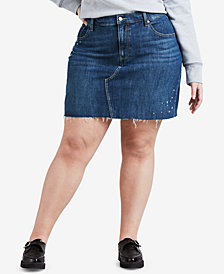 Levi's® Plus Size Studded Stretch Denim Skirt