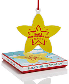 Macy's Star shaped ornament celebrating Macy's Annual Thanksgiving Day Parade - Gift Box