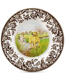 Yellow Lab Salad Plate
