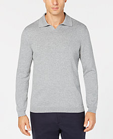 Tasso Elba Men's Open-Collar Supima Cotton Polo, Created for Macy's