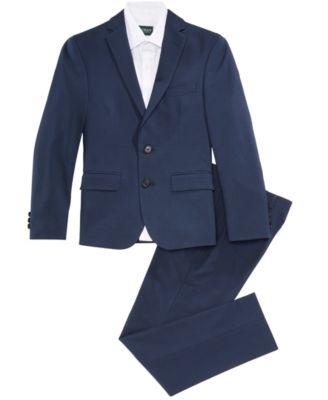 Big Boys Plaid Suit Jacket