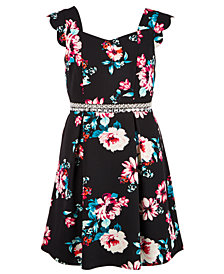 Monteau Big Girls Floral-Print Dress