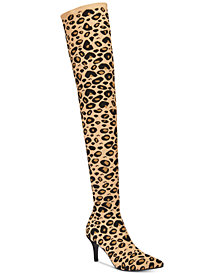 I.N.C. Women's Briella Sock Over-The-Knee Boots, Created for Macy's