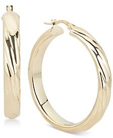 Sculptural Hoop Earrings in 14k Gold