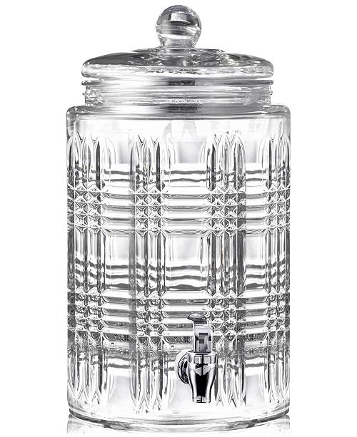 Jay Imports Portland 2-Gallon Beverage Dispenser with Glass Lid