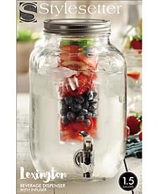 Lexington 1.5-Gallon Beverage Dispenser with Infuser