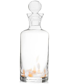 Jay Imports Simone 27.7-Oz. White & Gold Decanter