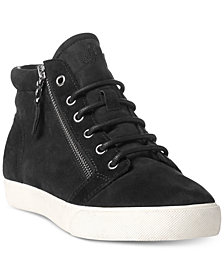 Lauren Ralph Lauren Reace Lace-Up High-Top Fashion Sneakers