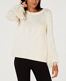 MICHAEL Michael Kors Fringe-Trim Sweater