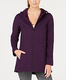 Ideology Long Hooded Rain Jacket, Created for Macy's
