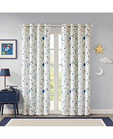 "Stellar Space 50"" x 84"" Total Blackout Grommet Window Panel Pair, Created for Macy's"