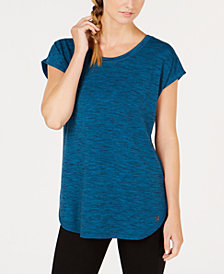 Ideology Essential Space-Dyed Lace-Up Back T-Shirt, Created for Macy's