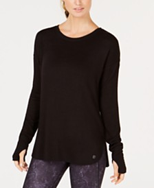 Ideology Drop-Shoulder Top, Created for Macy's