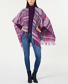 Echo Lofty Plaid Poncho, Created for Macy's