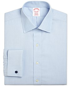 Men's Madison Classic/Regular Fit Non-Iron Solid Broadcloth Light Blue French Cuff Dress Shirt