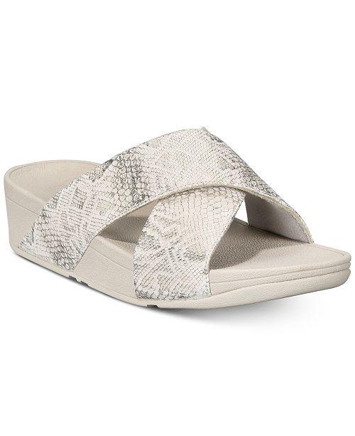 772b755243af5 FitFlop Lulu Slide Sandals   Reviews - Sandals   Flip Flops - Shoes ...