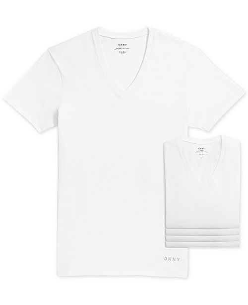 Dkny Men S 4 Pk Cotton V Neck T Shirts Reviews Underwear