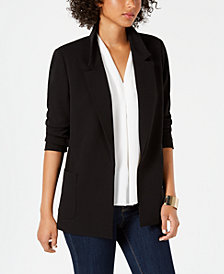 Nine West Notch-Collar Open-Front Jacket