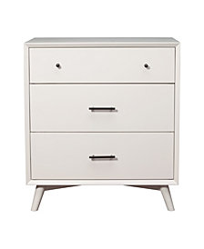 3-Drawer Dresser, White Finish