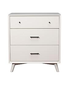 3-Drawer Dresser, White Finish