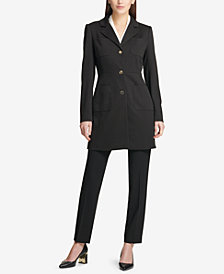 DKNY Ponté-Knit Topper Jacket & Fixed Waist Skinny Pants, Created for Macy's