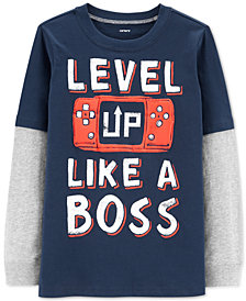 Carter's Little & Big Boys Layered-Look Long-Sleeve Cotton T-Shirt