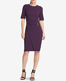 DKNY Faux-Wrap Sheath Dress, Created for Macy's
