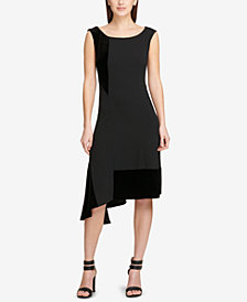 DKNY Asymmetric Fit & Flare Dress, Created for Macy's