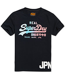 Superdry Men's Vintage Ombré Logo Graphic T-Shirt