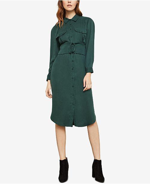 fee4a0083cda BCBGMAXAZRIA Corseted Shirt Dress  BCBGMAXAZRIA Corseted Shirt Dress ...