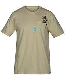Hurley Mens Flamingo Graphic T-Shirt