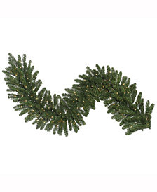 "9' x 14"" Oregon Fir Artificial Christmas Garland with 100 Clear Lights"