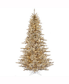 3' Champagne Fir Artificial Christmas Tree with 100 Clear Lights