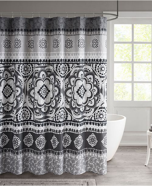 510 Design Neda 72 X Printed Shower Curtain