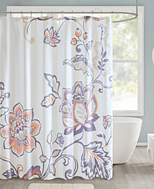 "510 Design Elizabeth 72"" x 72"" Printed Shower Curtain"